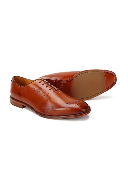 Dublin: Tan Brogue Wholecut Oxford