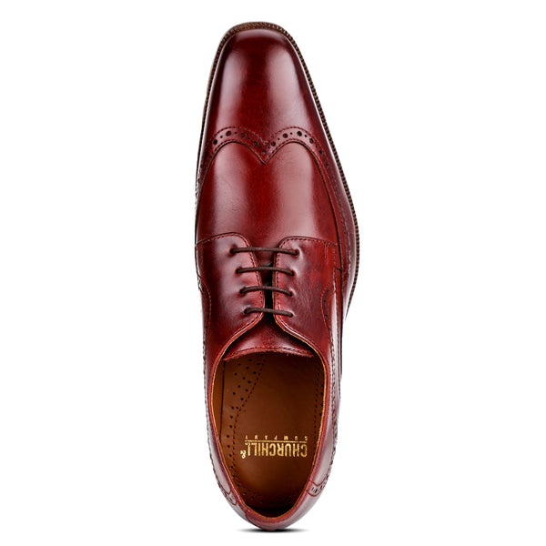 Troy: Burgundy Wingtip Derby