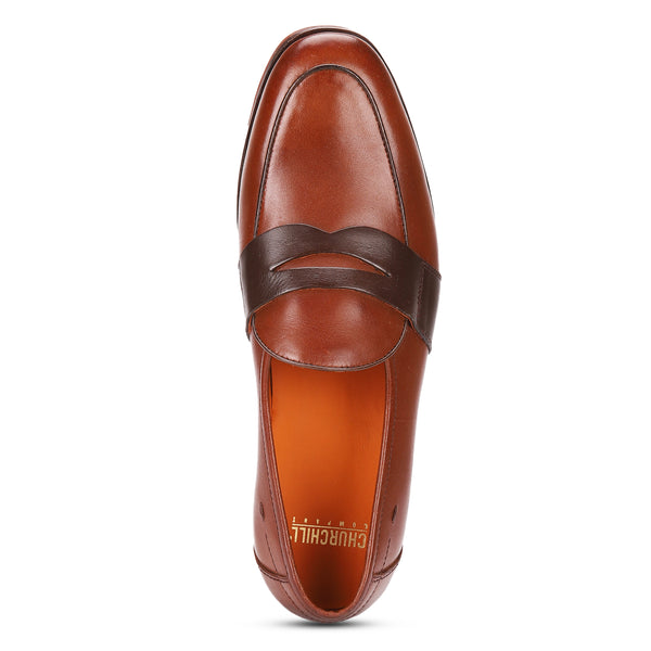Fred: Tan Saddle Belgian Loafer