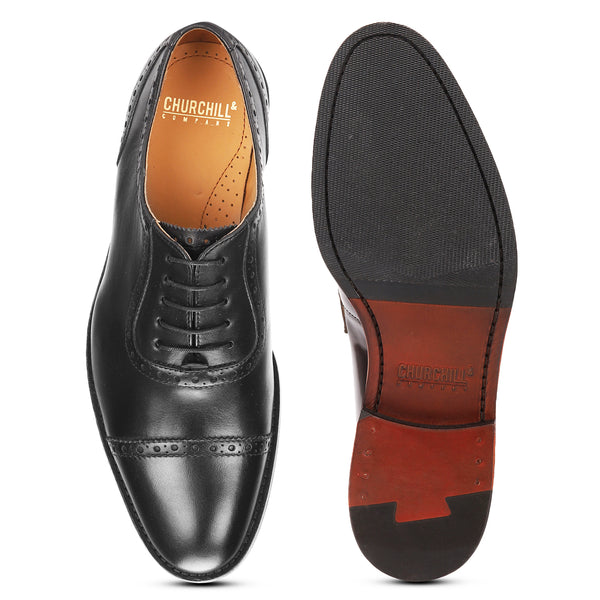 Thomas: Black Brogue Oxford