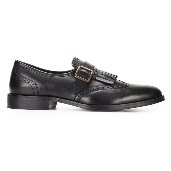 Albert: Black Single Monkstrap