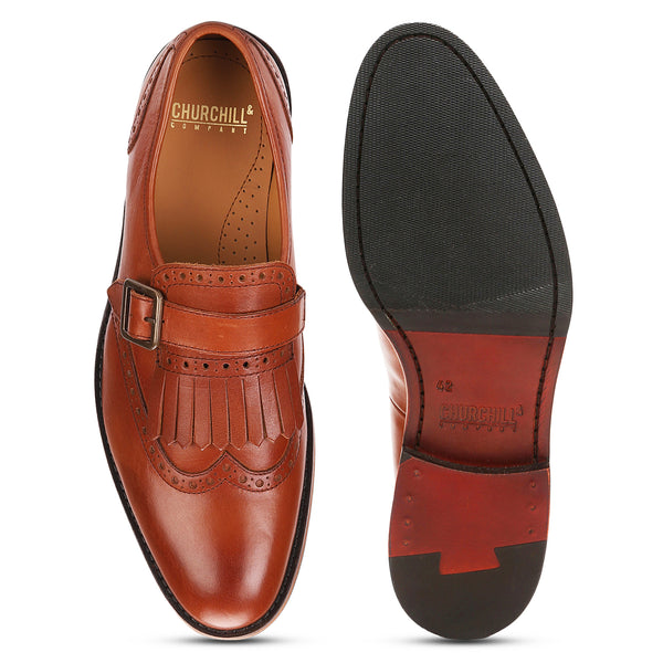 Albert: Tan Single Monkstrap