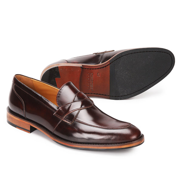 Austin: Cherry Saddle Loafer