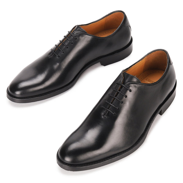 Barney: Black Wholecut Oxford