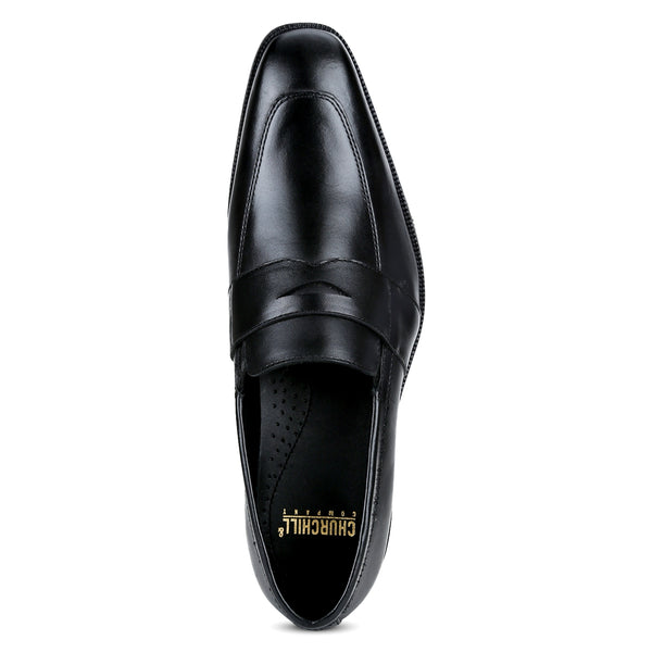 Fort: Black Penny Loafer