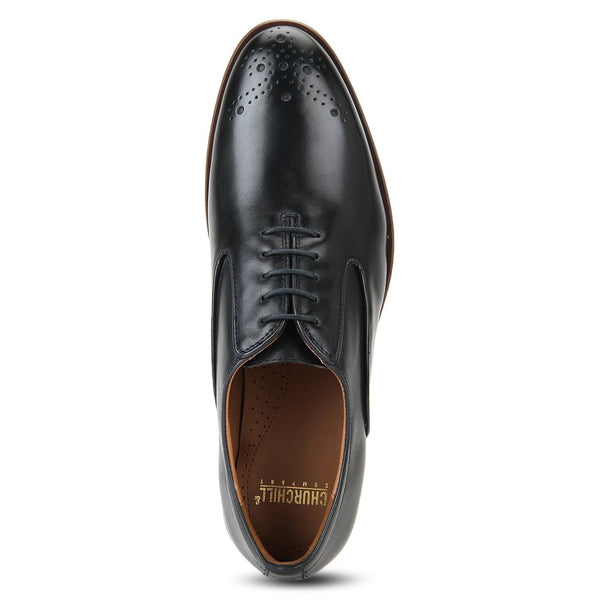 Wright: Navy Blue Oxford Shoe