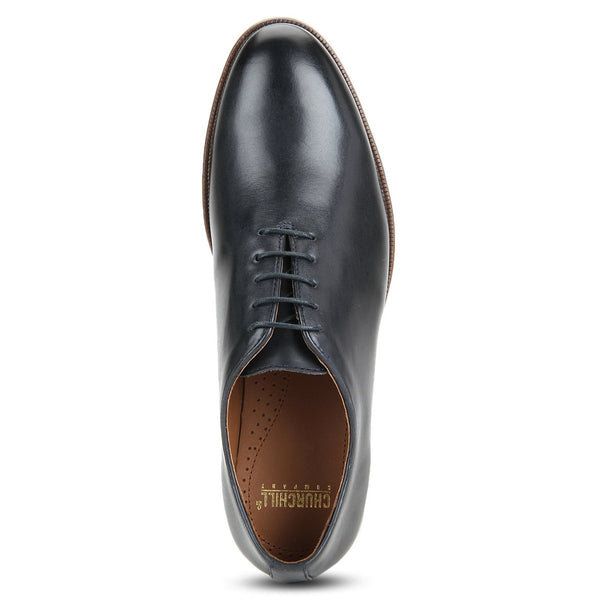 Blake: Navy Blue Wholecut Oxford