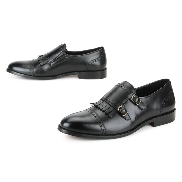 Alfred: Black Double Monkstrap