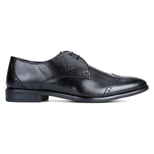Carol: Black wingtip Derby