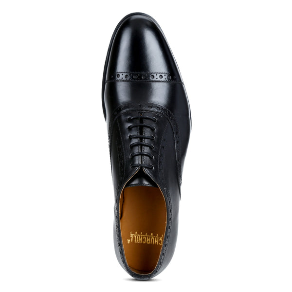 Cooper: Black Brogue Oxford