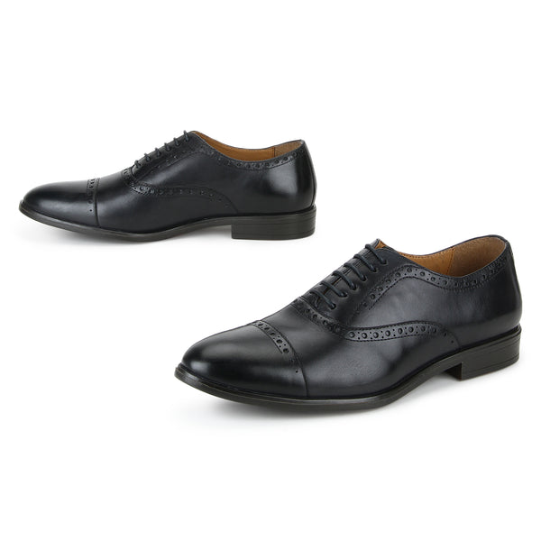 Cooper: Navy Blue Brogue Oxford