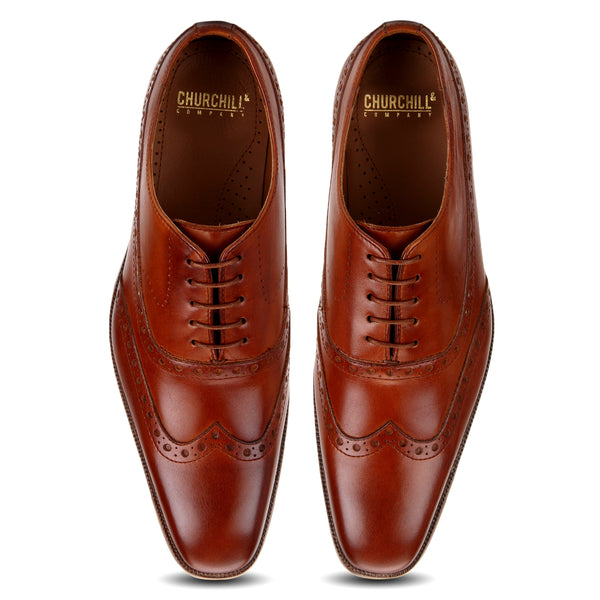 Finch: Tan Wingtip Oxford