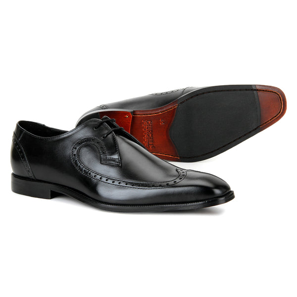 Brook: Black Wingtip Derby