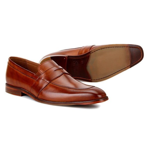 Fort: Tan Penny Loafer