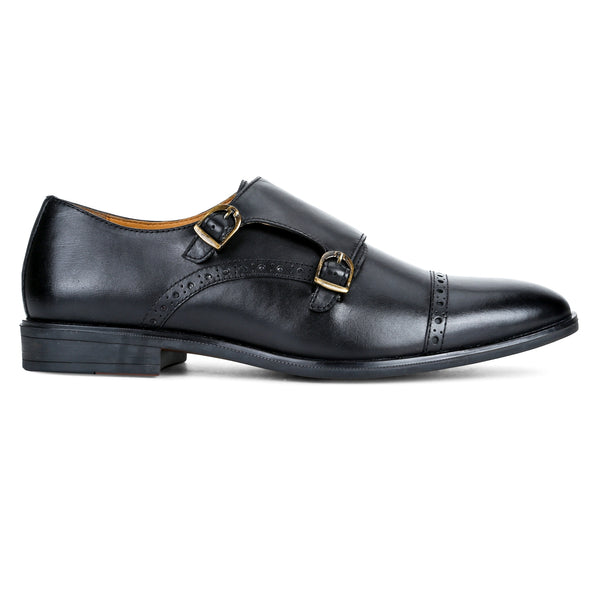 Clifton: Black Double Monk strap