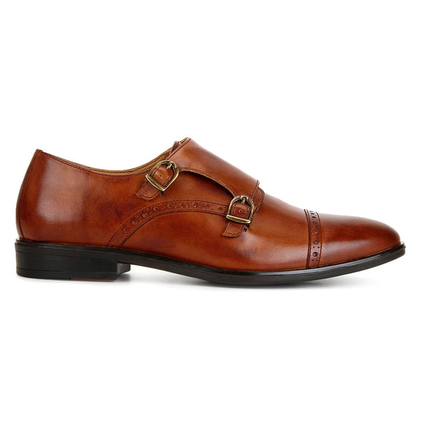 Clifton: Tan Double Monk strap