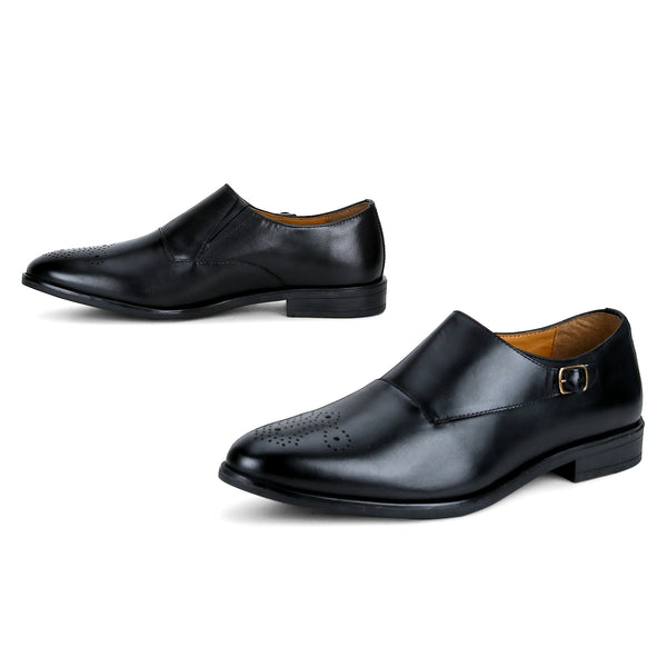 Clayton: Black Single Monk strap