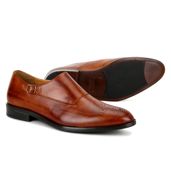 Clayton: Tan Single Monk strap