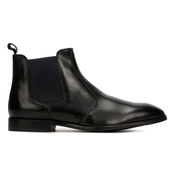 Black Chelsea Boot leather shoes