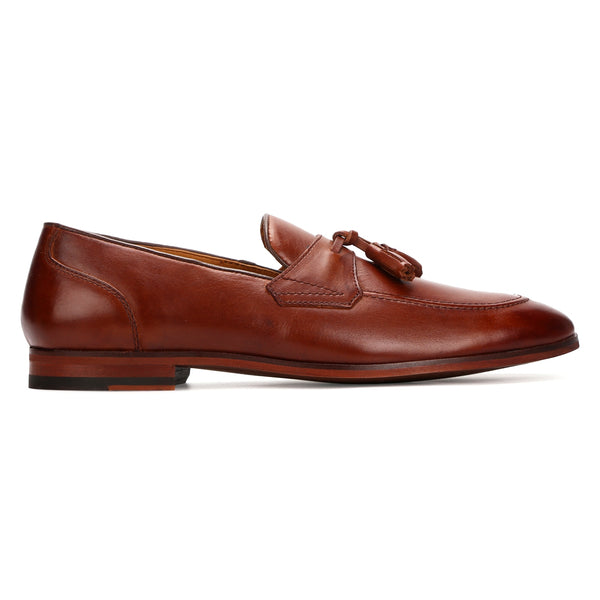 Furley: Dark Tan Belgian Loafer