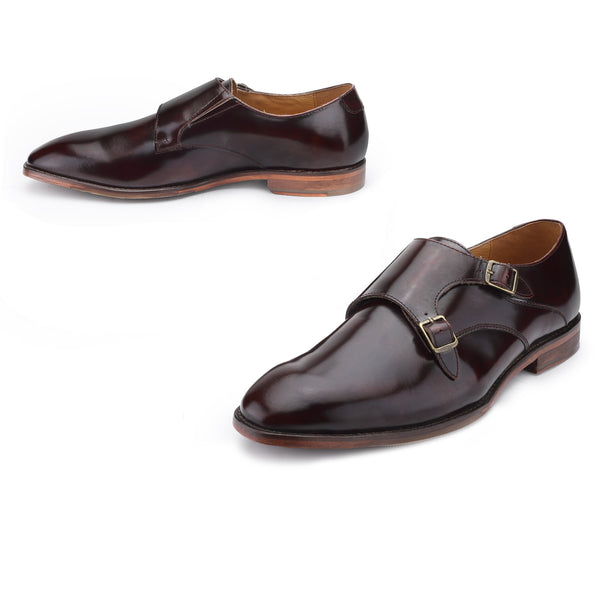 Harper: Cherry Double Monk Strap