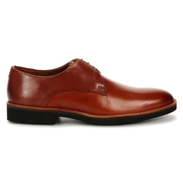 Grant: Ultralight Tan Plain Toe Derby