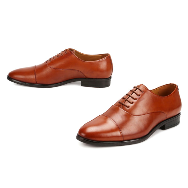 Canton: Tan Cap-toe Oxford