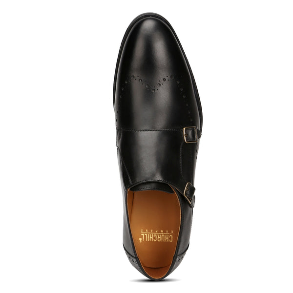 Conor: Black Double Monk strap