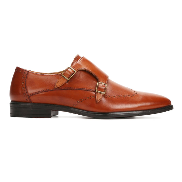 Conor: Tan Double Monk strap