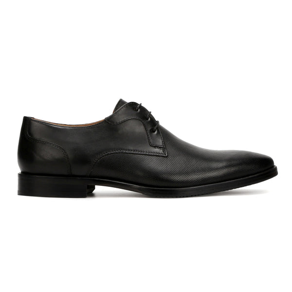 Mason: Black Textured Derby