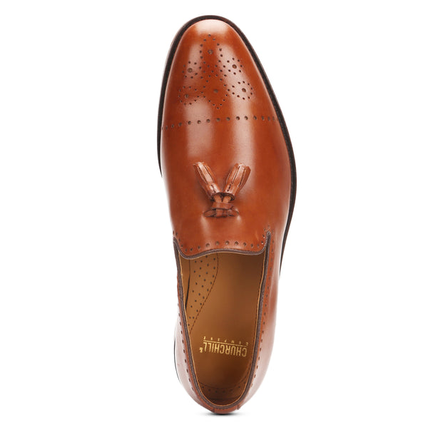 Savoy II : Tan Tasselled Loafer