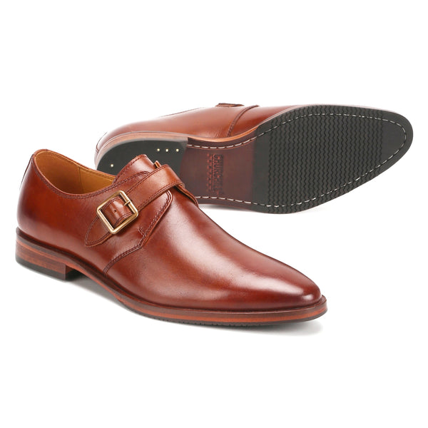 Stoke: Tan Single Monk Strap