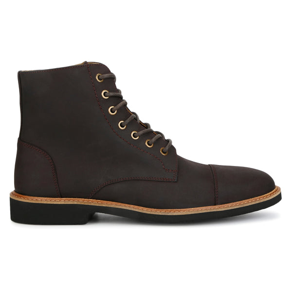 Maverick: Brown Nubuck Leather Boot