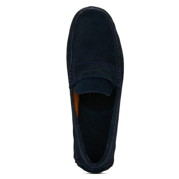 Beech: Navy Blue Suede Loafer