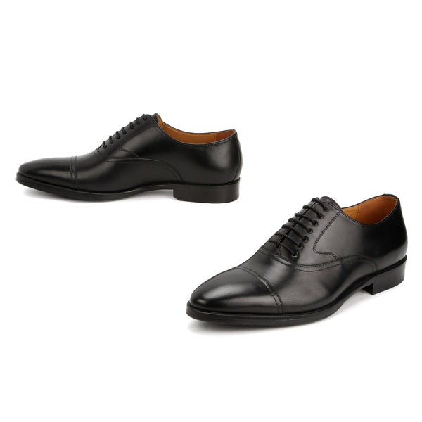 Marco: Black Formal Lace Up