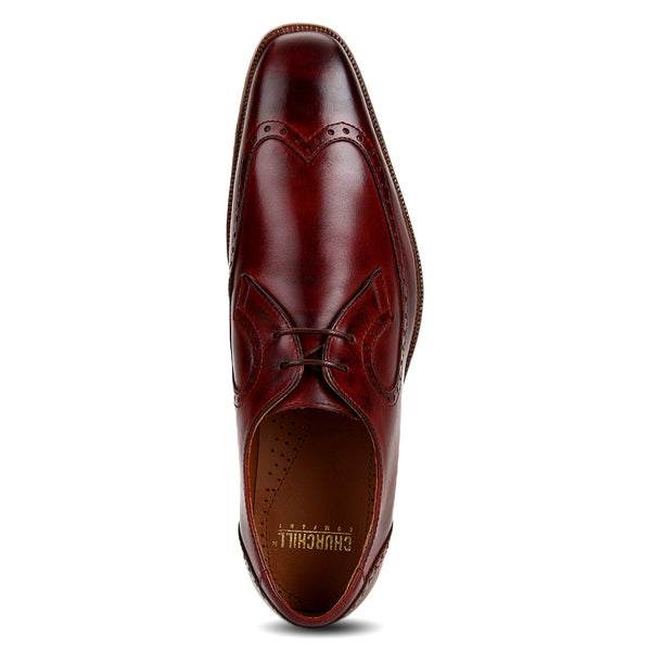 Brook: Burgundy Wingtip Derby