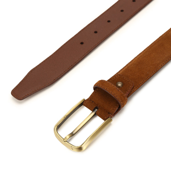 Spiff: Brown Suede Belt
