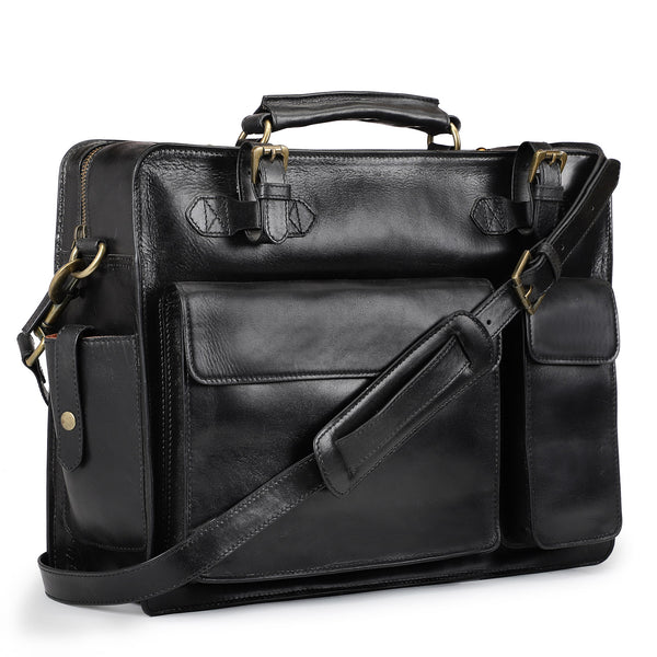 Frank : Men's Leather Briefcase