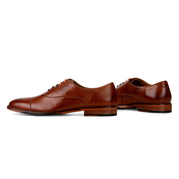 Bridge: Tan Cap-toe Oxford