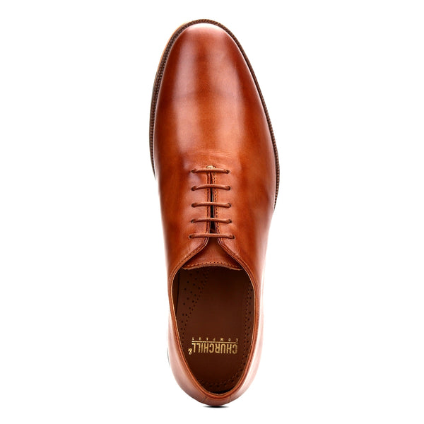 Blake: Tan Wholecut Oxford