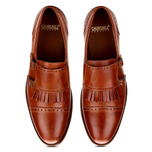 Alfred: Tan Double Monkstrap