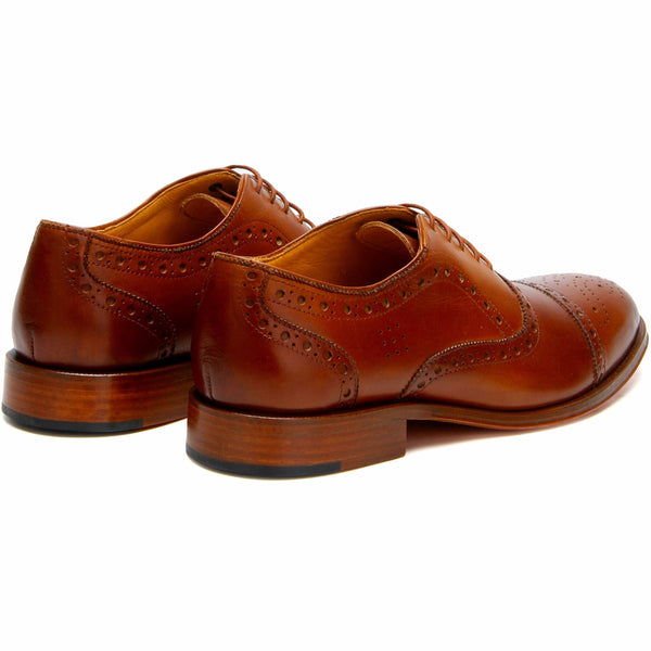Smith: Cognac brogue Oxford