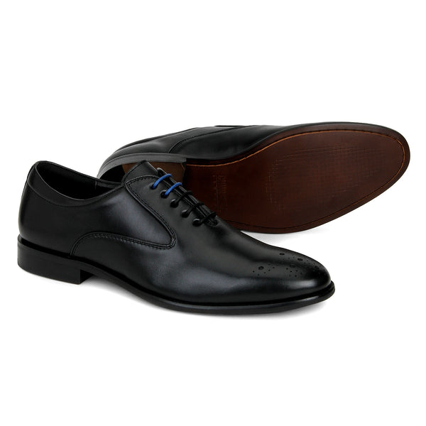 Wright: Black Oxford Shoe