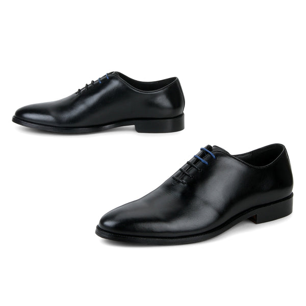 Blake: Black Wholecut Oxford