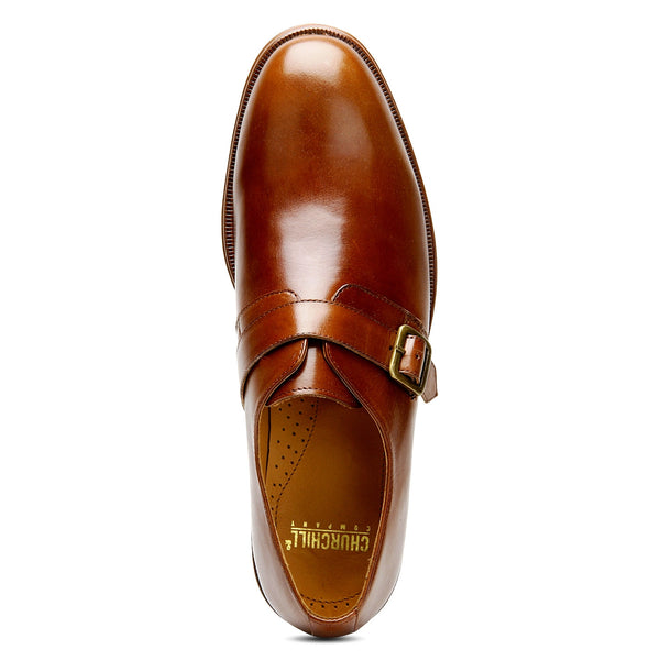 Adam: Tan Single Monk Strap