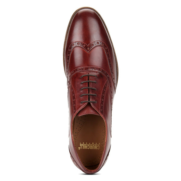 Drew: Burgundy Wingtip Oxford