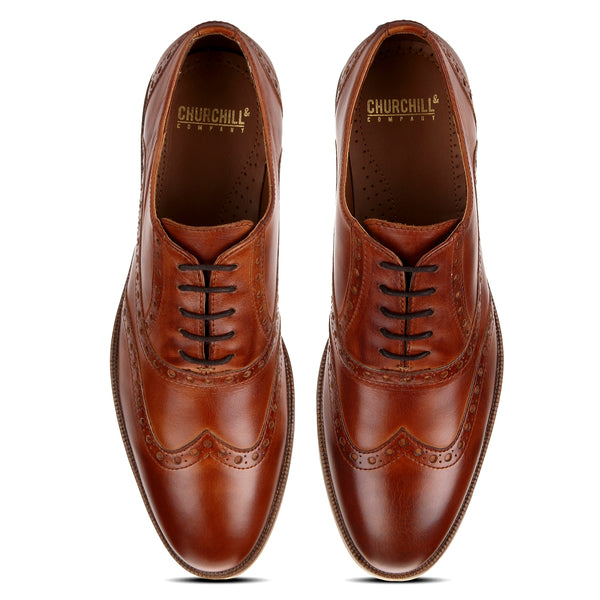 Drew: Tan Wingtip Oxford