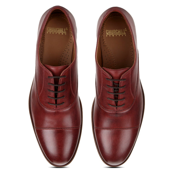 Bridge: Burgundy Cap-toe Oxford