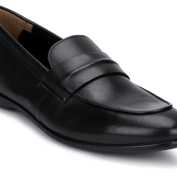 Astor: Black Slip-On Loafer