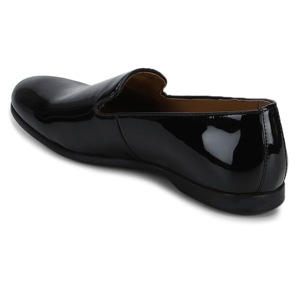 Acton: Black patent Slip-On Loafer